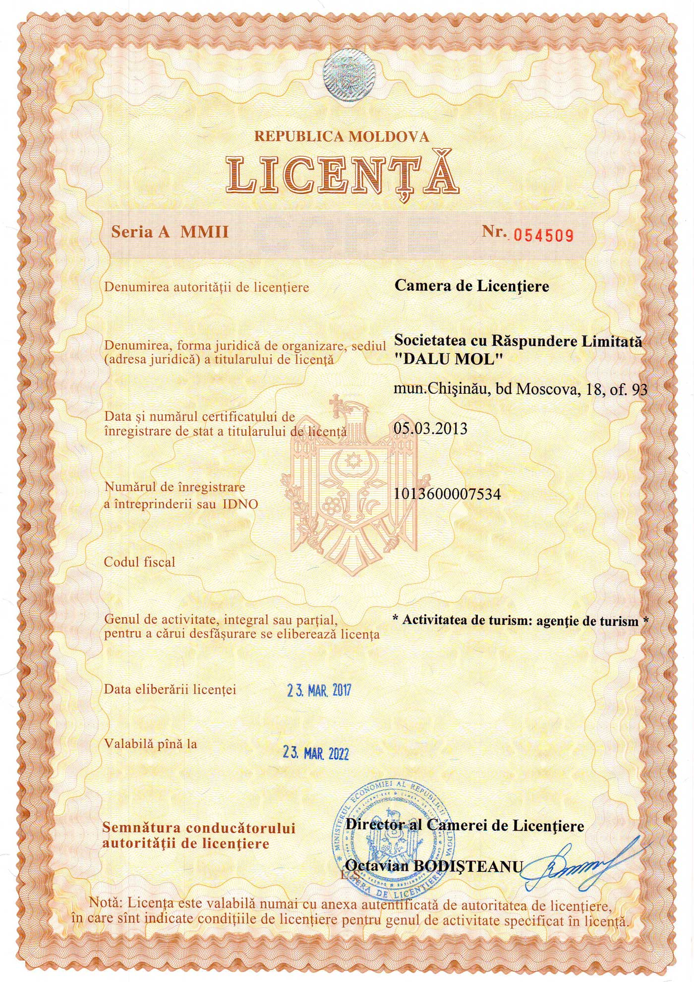 license toursofmoldova.com